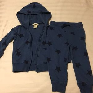 Toddler boy matching sweatsuit